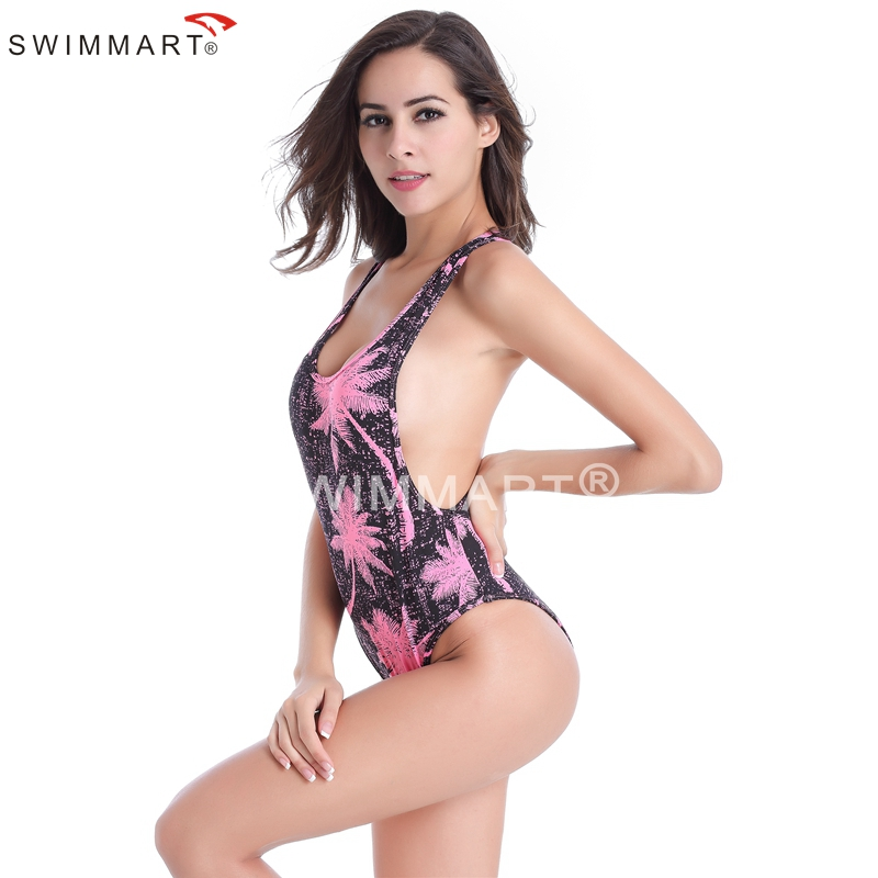 1b01eaa8bd4 ... Wild Sexy Cut out Monokini Raceback High Cut Removable Padding One  Piece Swimsuit ...