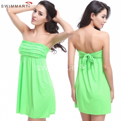 Feminine mini Ruffles Top Bandaged mature Women Sexy girls Cover up Beach wears