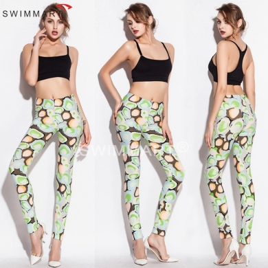Hot Sales Spring Autumn Slim Fit Stretch Cotton Sexy Pants Fashion Print Leggings