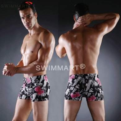 Popular Worldwide Waist Band and ties Big Male Large Plus size Men Swimming trunks