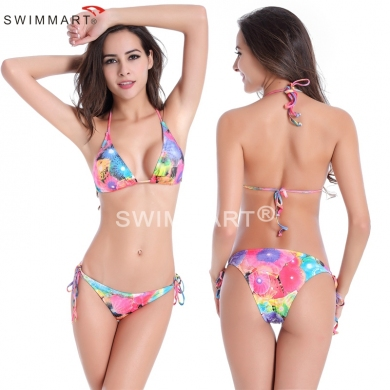 Classic Cut Out Fully lined Removable padding Large Women Plus size Triangle Bikini