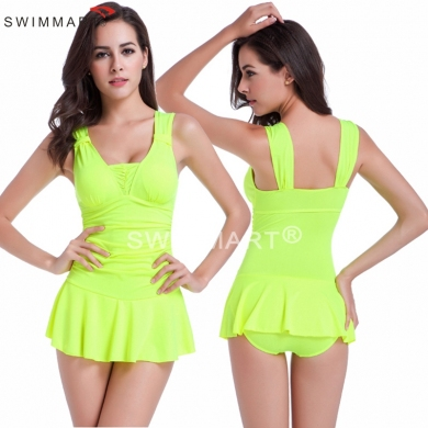 Double shoulders with Movable Knot Push up Bathing suits 2016 Hip - up Sexy One piece Pretty Girls s...