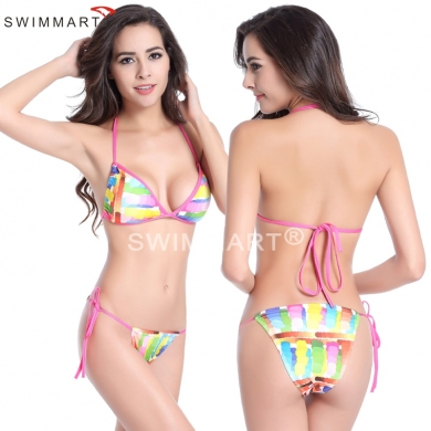 Wholesale Mini Bottom Removable padding Fully lined Bikini swimwear