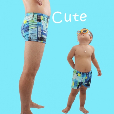 SWIMMART 2019 Summer Daddy Son Swimsuit Family Swimming Shorts Swimwear Parent Child Swim Trunk Bath...